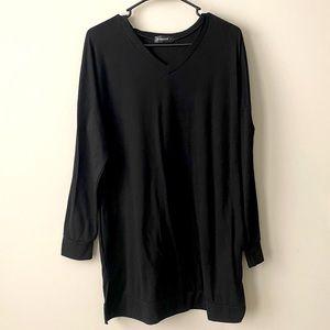 Lerucci Black Long Sleeve Tunic Pockets Large NWOT